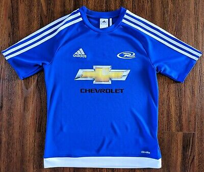 Youth Boy's adidas Chevrolet Blue soccer jersey shirt Size Large MLS Chevy   eBay