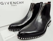 Givenchy tachonado Botas De Cuero Negro UK8 EU42 US9 Nuevo