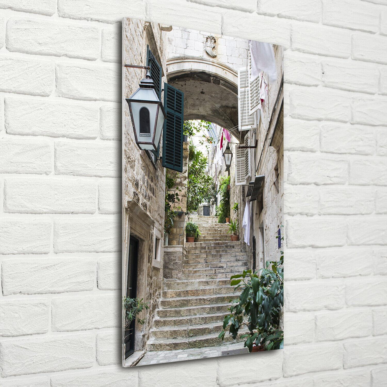 Wandbild Druck auf Plexiglas® Acryl Hochformat 70x140 Straßen von Dubrovnik