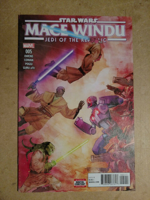 STAR WARS JEDI REPUBLIC MACE WINDU 3 40th ANNIVERSARY VARIANT NM SOLD OUT