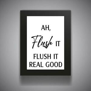 IT/'S ALL GIGGLES Funny Bathroom Print Contemporary Wall Art Poster Toilet Home