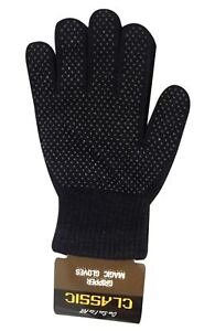 2 x Pair  Magic GLOVES With Grip Adult Unisex Black THERMAL MAGIC WINTER GLOVES