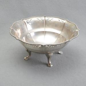 Image Is Loading Beautiful Large Antique Fruit Bowl On 4 Feet