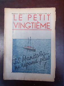 Tintin-Petit-Vingtieme-n-43-du-29-10-1936-Couverture-Herge-TBE