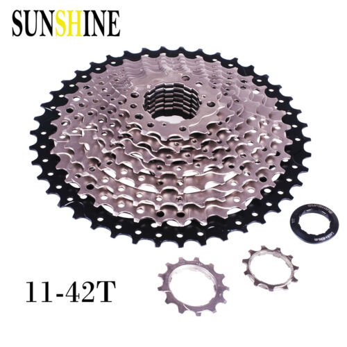 SUNSHINE 10 Speed 11-36T//40T//42T Cassette Flywheels Sprockets for Shimano SRAM