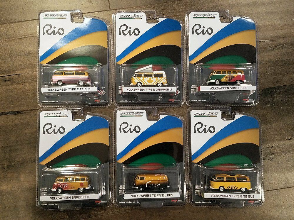 VerdeLIGHT 1/64 RIO WORLD GAMES VOLKSWAGEN COLLECTION SET OF 6 CHASE CAR 51037