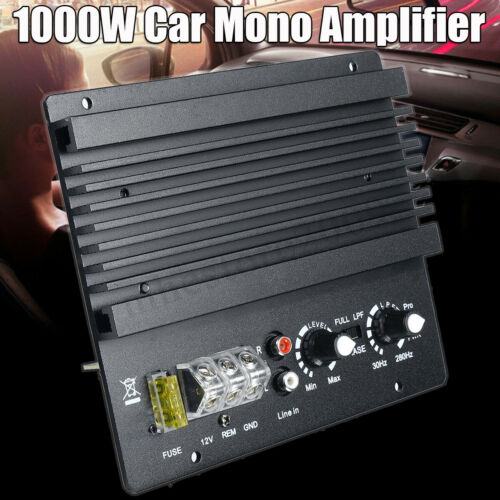 1000W Mono Car Audio High Power Amplifier Amp Board Powerful Bass Subwoofer
