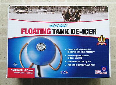 1,500 Farm Innovators Model H-4815 Economical Floating De-Icer For Metal Tanks