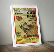 Vintage Car Poster Racing Motorsport Automobile-a4 - 500 MIGLIA BROOKLANDS
