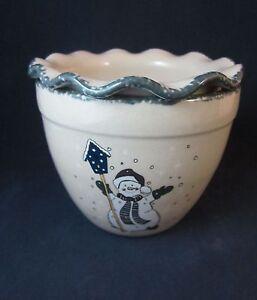 Home Garden Party Snowman Dip Cooler Set Dip Bowl And