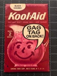 VINTAGE 1960's KOOL-AID FULL PACK Sealed BLACK CHERRY FLAVOR old stock GAG TAG !