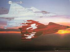 Poster Saab JAS-39 Gripen + Saab JAS-37 Viggen Swedish Air Force