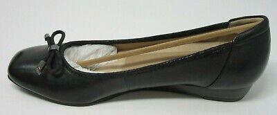 Details about  /BoNavi D532L092 Black Leather Round Toe Wedge Shoes