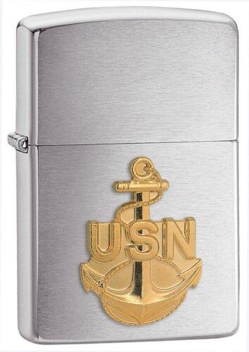 Zippo Briquet U S Navy Anchor Coupe-vent États-Unis USA 10510