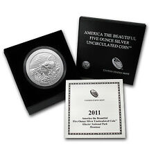 2011-P 5 oz Silver ATB Glacier, MT - with Box and Certificate