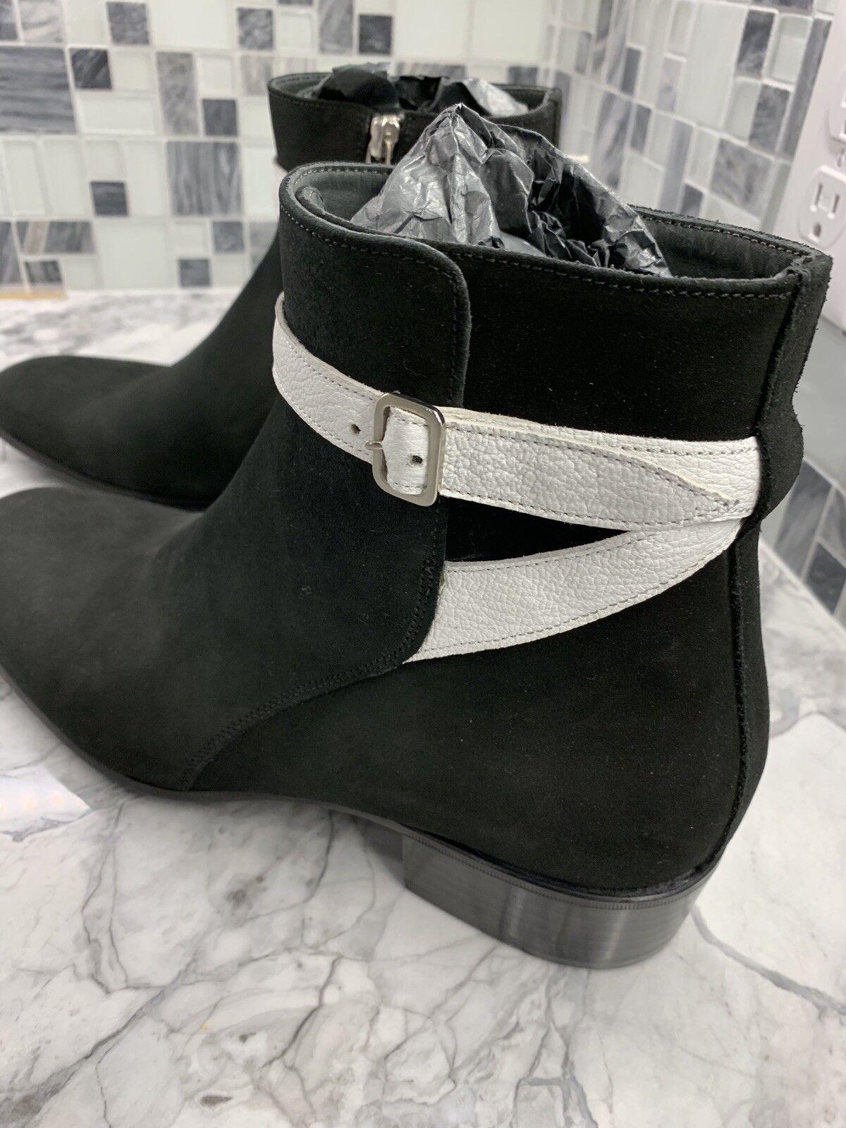 Nuevo Alexander McQueen para hombre Negro Gamuza Tobillo botas Zapatos EU43 US 10  Italia