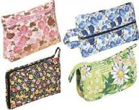 Wholesale Lot Of 4 Fabric Zippered Cosmetic Bag Beautiful Clutch Gift