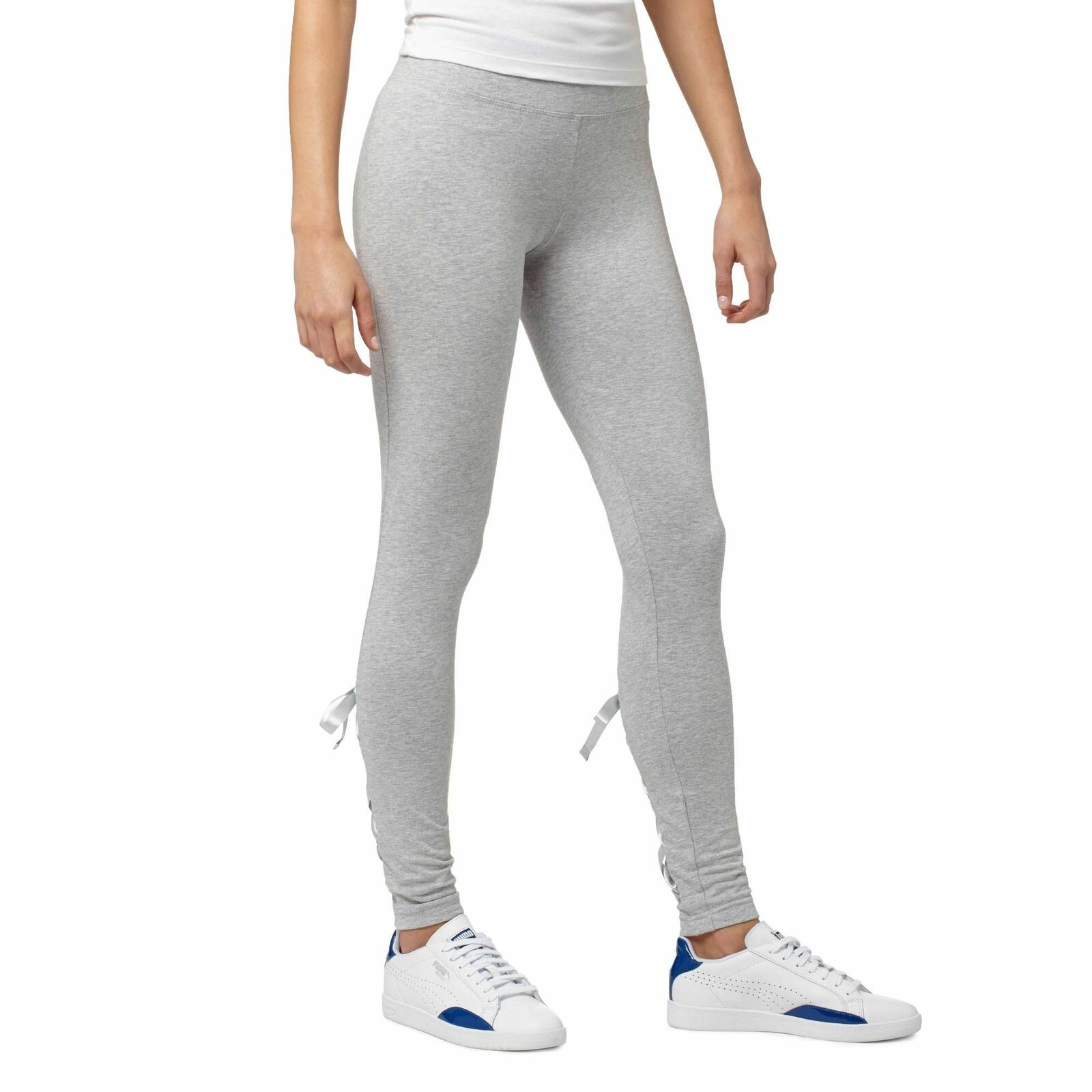 PUMA Satin T7 Leggings Women   Light Grey Heather (573903-01)
