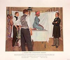 AMAZING RARE MEDICAL ART VINTAGE ORIGINAL LITHOGRAPH BY ARTIST ROBERT THOM