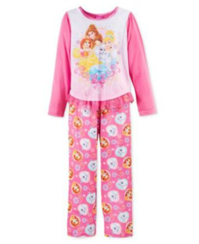 Disney Girl/'s 6 or 8 Pajama Set Princesses and Pups Palace Pets New $36