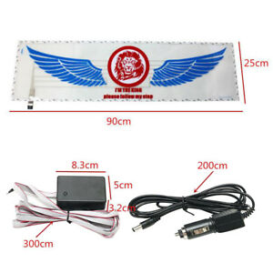 90-25cm-Car-Music-Rhythm-LED-Light-Lamp-Sticker-Sound-Activated-Equalizer