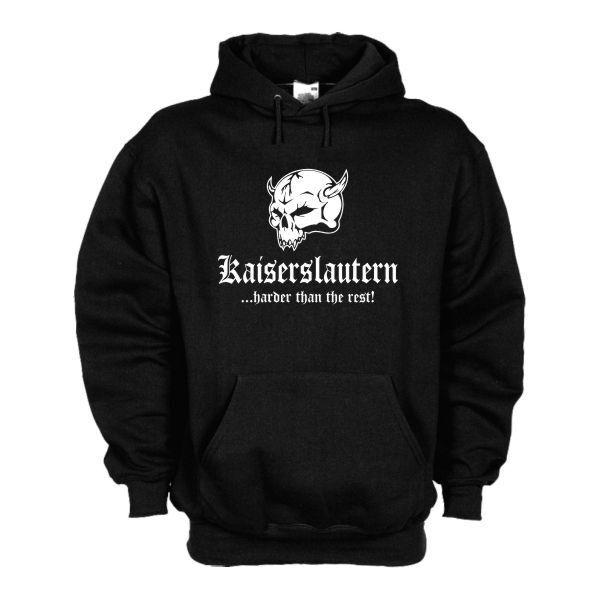 Kapuzenpullover Kaiserslautern ..harder than the rest Hoodie S - 6XL (SFU14-15d)