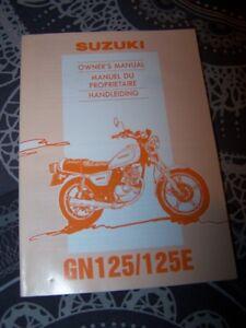 F4 - Owner S Manual/manuel/notice Proprietaire/entretien Suzuki Gn 125 125e E Gn
