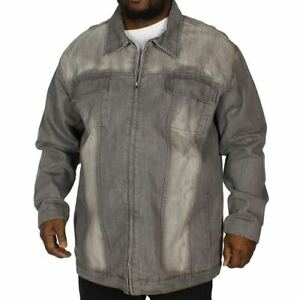 Loyalty-and-Faith-Grey-Denim-Jacket-Full-Zip-Up-Mens-UK-Size-4XL-REF79
