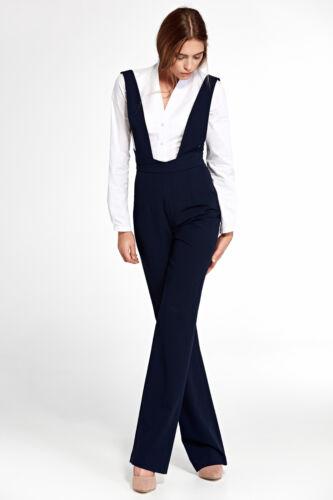 Salopette femme bleu pantalon combinaison à bretelles NIFE KM08 36 38 40 42 44