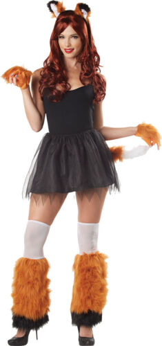 4 PC FOX FOXY COSTUME KIT HEADBAND EARS GLOVES LEG FURIES MR156181 TAIL