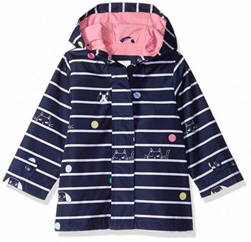 Carter/'s Girls Navy Printed Rainslicker Jacket Size 2T 3T 4T 4 5//6 6X