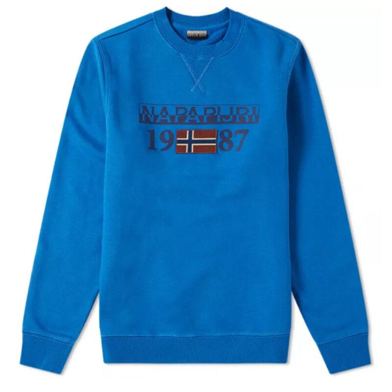 Sweatshirt Napapijri Herren BERTHOW LOGO CREW 1 N0YI7YB56 lange Ärmel blau