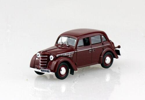 Moskwitsch //Moskwicz 400-420A dunkelrot//braun Blister 1:43 Ixo//Altaya Modellauto