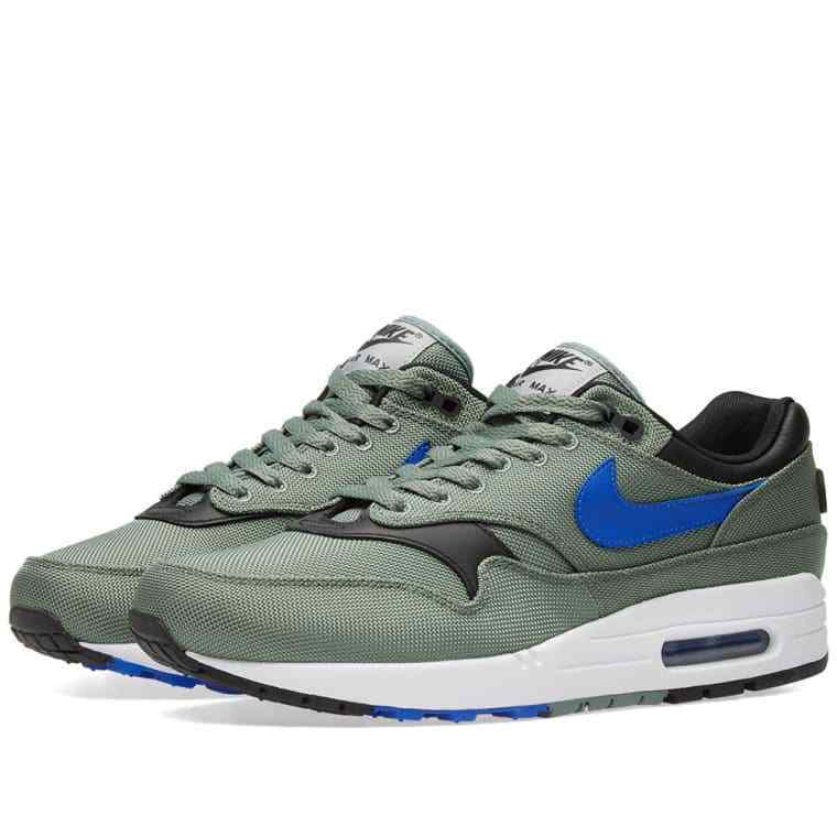 Men's Nike Air Max 1 Premium Green blanc Bleu 875844 300