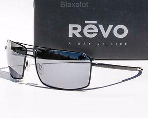 0c36eacf33 Details about NEW REVO CAYO POLARIZED SUNGLASSES Black Gunmetal Chrome    Blue Water Mirror