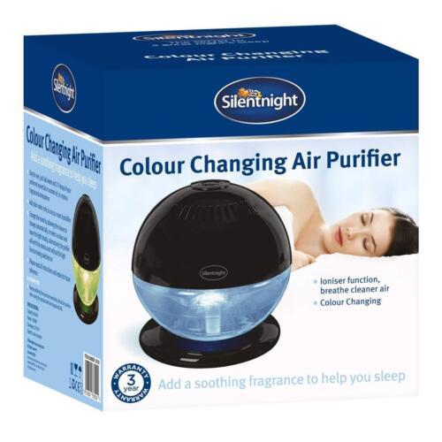Silentnight a colori cangianti LED Deodorante pulita PURIFICATORE UMIDIFICATORE IONIZZATORE