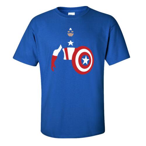 Avengers Film Super Hero USA Captain America T-Shirt Adults /& Kids Sizes