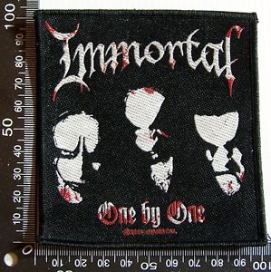 GENUINE-IMMORTAL-EMBROIDERED-JACKET-PATCH-METAL-WOVEN-SEW-ON-CLOTH-BADGE