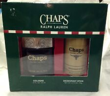 CHAPS BY RALPH LAUREN 1.8 oz COLOGNE + Deodorant Stick HARD TO FIND Gift Set Men