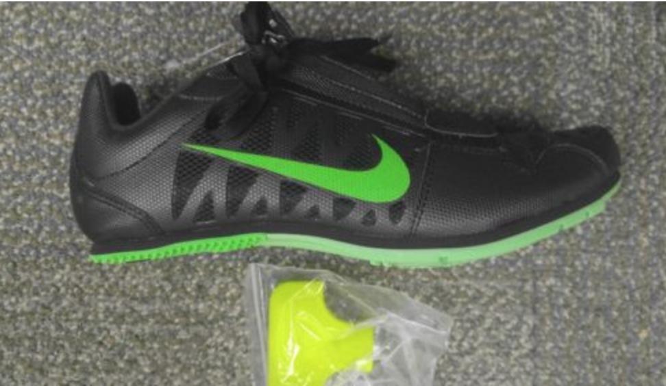 New NIKE ZOOM LJ 4 STRIKE BLACK GREEN MEN SHOES Track Elite Field 14