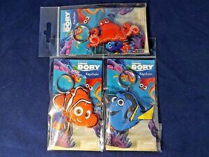 DISNEY-FINDING-DORY-PVC-KEYRING-RUBBER-Dory-Nemo-Hank-or-All-3