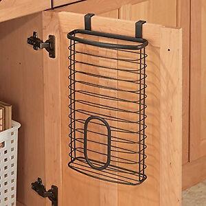 Image Is Loading Grocery Bag Holder Storage Kitchen Organizer Over Cabinet