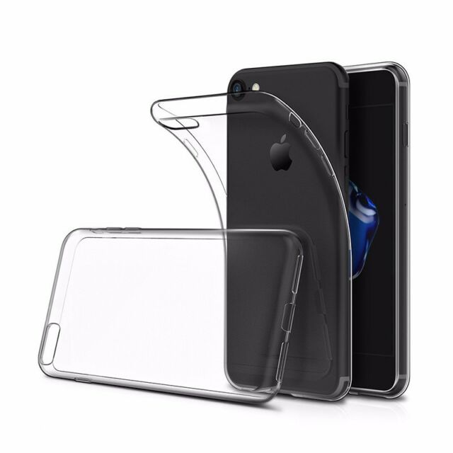 Silikon Hülle transparent für iPhone 8 ultraslim slim Cover Case TPU