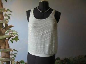 57af9ab634e99 Image is loading Express-Pastel-Green-sequin-Top-Blouse-Cami-Size-