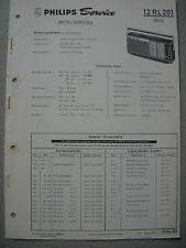 Philips 12 RL201 Kofferradio Rex SL Service Manual, Ausgabe 01/70