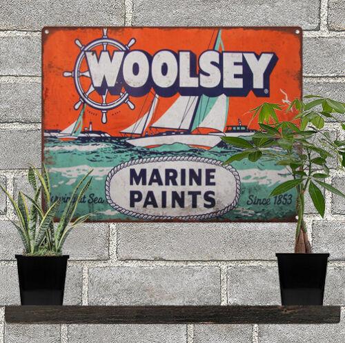 Woolsey Marine Paint Vintage Look Advertising Metal Sign 9 x 12 60052