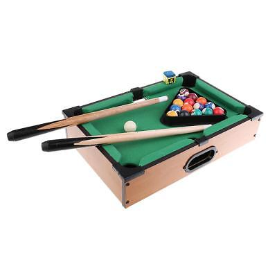 Miniature Pool Table Set with Pool Balls Cue Sticks Tabletop Kids Toy Games  sc 1 st  eBay & Miniature Pool Table Set with Pool Balls Cue Sticks Tabletop Kids ...