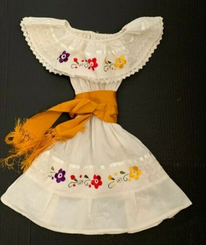 Fiesta Dress 2 Piece Girl/'s Mexican Dress with Sash Perfect Birthday Dress