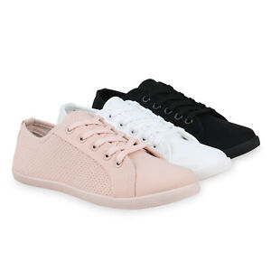 Damen-Sneaker-Low-Bequeme-Turnschuhe-Schnuerer-Freizeitschuhe-830791-Schuhe