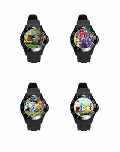 pikmin-Black-White-Pink-So-many-Colors-Soft-Plastic-Rubber-Wrist-Watch